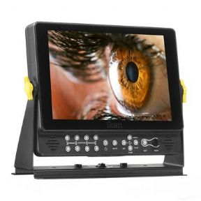 "Ikan Monitor VX9w 9"" Full HD Plus 3G-SDI On-Camera Field Monitor w/ Scopes 2 kits de adaptadores de baterías"